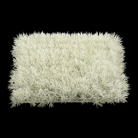 10in. X 10in. White Glittered Grass Mat - Indoor