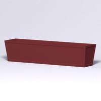 Ashville Tapered Rectangular Planter 108in.L x 24in.W x 24in.H
