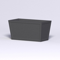Ashville Tapered Rectangular Planter 48in.L x 24in.W x 24in.H