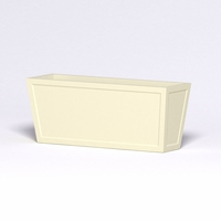 Ashville Tapered Rectangular Planter 60in.L x 18in.W x 24in.H