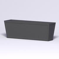 Ashville Tapered Rectangular Planter 72in.L x 18in.W x 24in.H