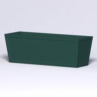 Ashville Tapered Rectangular Planter 72in.L x 24in.W x 24in.H