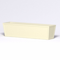 Ashville Tapered Rectangular Planter 96in.L x 24in.W x 24in.H