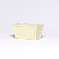 Ashville Tapered Rectangular Planters - Single or Double Panel