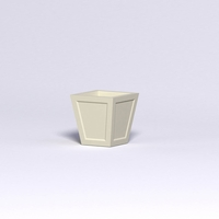 Ashville Tapered Square Planter 18in.L x 18in.W x 24in.H