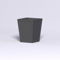 Ashville Tapered Square Planter 24in.L x 24in.W x 30in.H