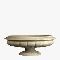 Athens Bowl Cast Stone Planter 38in.D x 13.75in.H