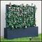 Azalea Trellis Space Divider in Fiberglass Planter 36in.L x 12in.W x 72in.H, Outdoor Rated