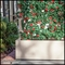 4'L Azalea Trellis Artificial Outdoor Space Divider in Fiberglass Planter