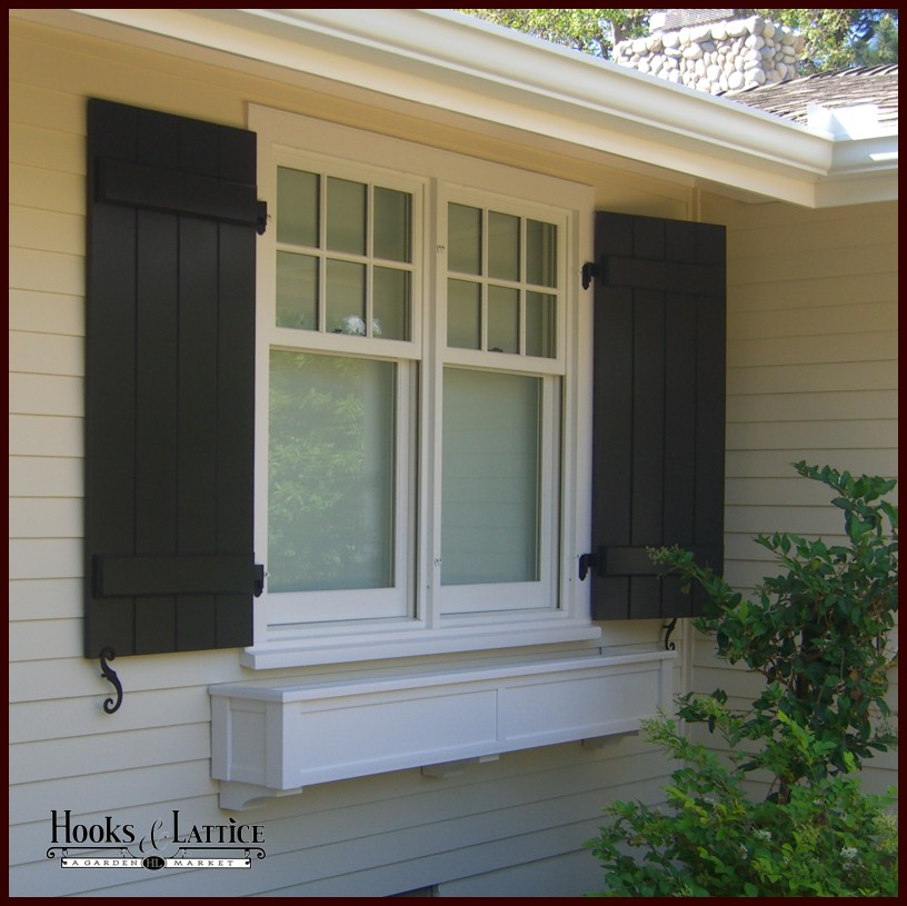 PVC Composite Shutters - Board and Batten Shutters - Hooks & Lattice