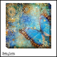 Azure Butterfly - Canvas Artwork