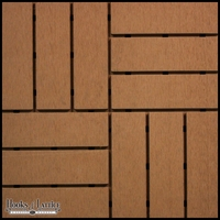 Basketweave Modern Deck Tiles - Box of 10