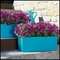 Basswood Self-Watering Window Box Planter - Caribbean Blue