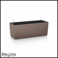Basswood Self-Watering Window Box Planter - Nutmeg