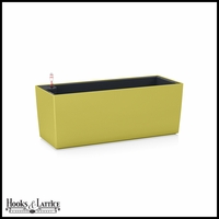 Basswood Self-Watering Window Box Planter - Pistachio Green