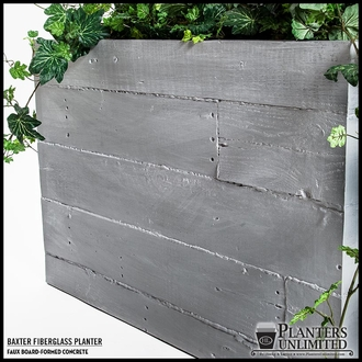Baxter Fiberglass Tapered Rectangular Planter 48in.L x 18in.W x 18in.H