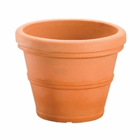 Belaire 35in. Planter - Weathered Terra Cotta