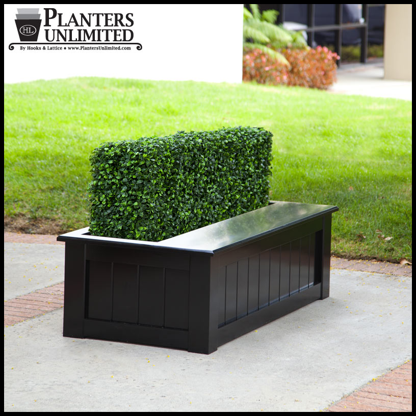 bench planter and custom faux plants artificial plants
