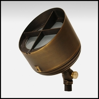 Big Bang Low Voltage Up Light - Weathered Brass