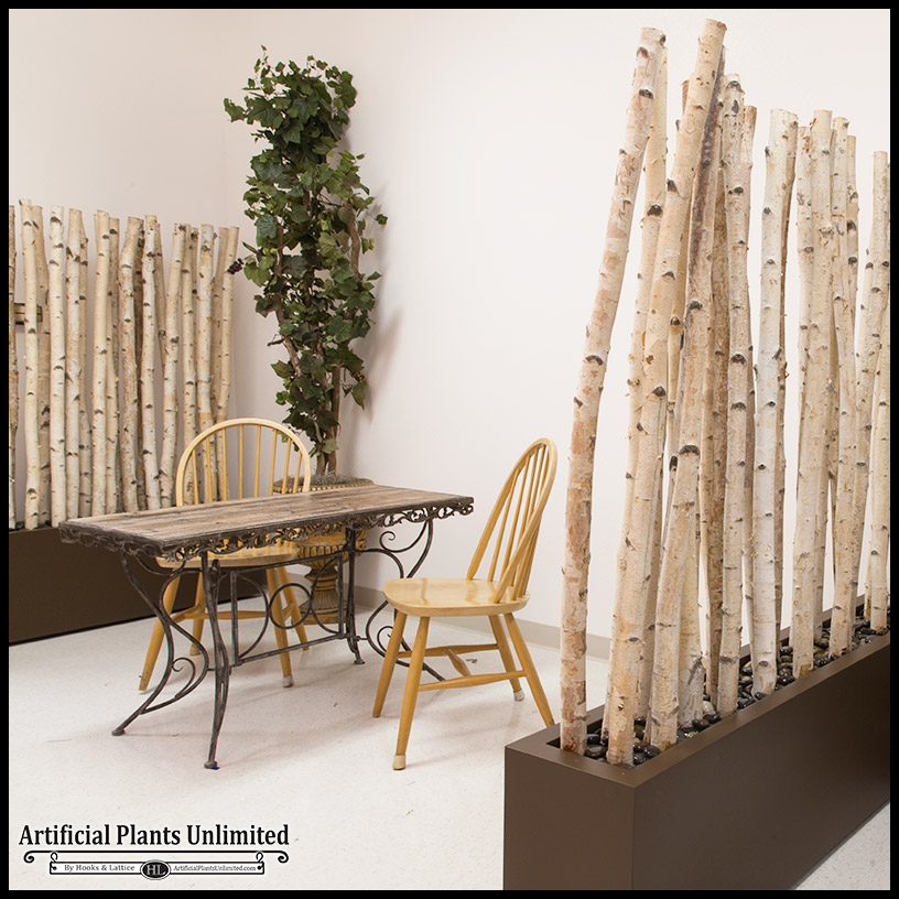 Decorative Room Divider - Birch | Artificial Plants Unlimited