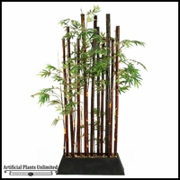 Black Bamboo Screen, 7.5'