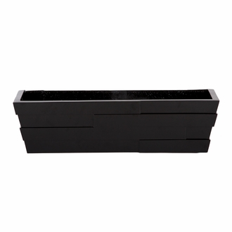 72in. Black Brickton Fiberglass Window Box
