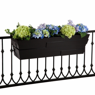 60in. Black Brickton Fiberglass Window Box