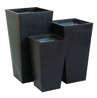 Black Metal Tapered Planters