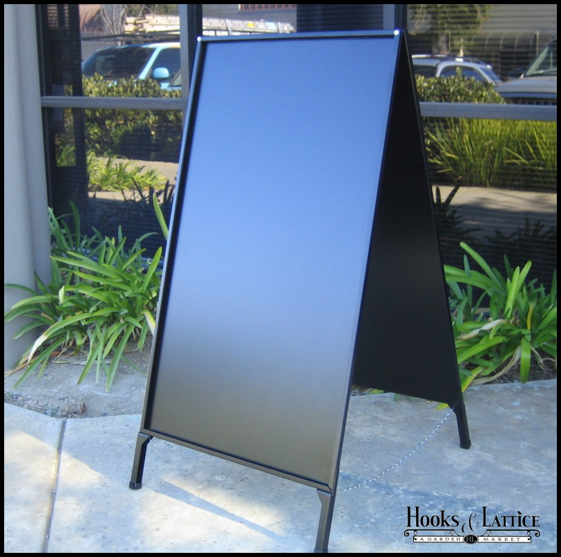 blank a frame folding sidewalk sign no panel insert