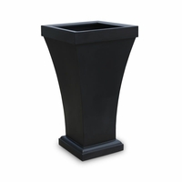 Bloomington 40 inch Tall Patio Planter - Black