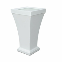 Bloomington 40 inch Tall Patio Planter - White