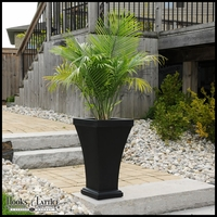 Bloomington 28in. Tall Patio Planter - Black