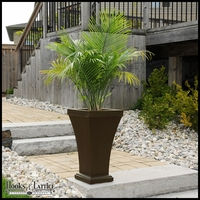 Bloomington 28in. Tall Patio Planter - Espresso