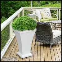 Bloomington 28in. Tall Patio Planter - White