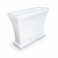 Bloomington Trough Planter - White