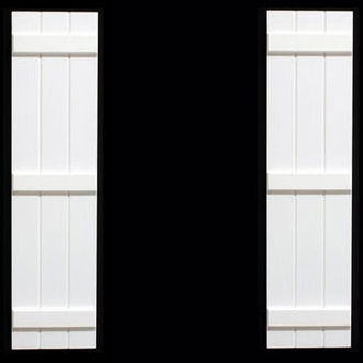"Board & Batten - 15"" Wide, with 3 Boards (Pair)"
