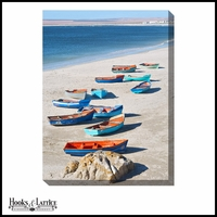 Boats on Shore - Canvas Artwork