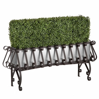 Boxwood Hedges in Elevated European Planters