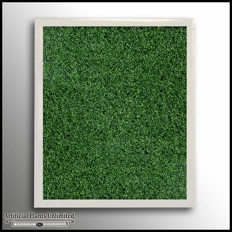 Boxwood Indoor Artificial Living Wall 120in.L x 72in.H w/ 12in. Frame