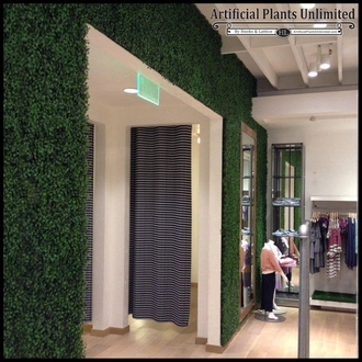 Boxwood Indoor Artificial Living Wall - w/ Frame