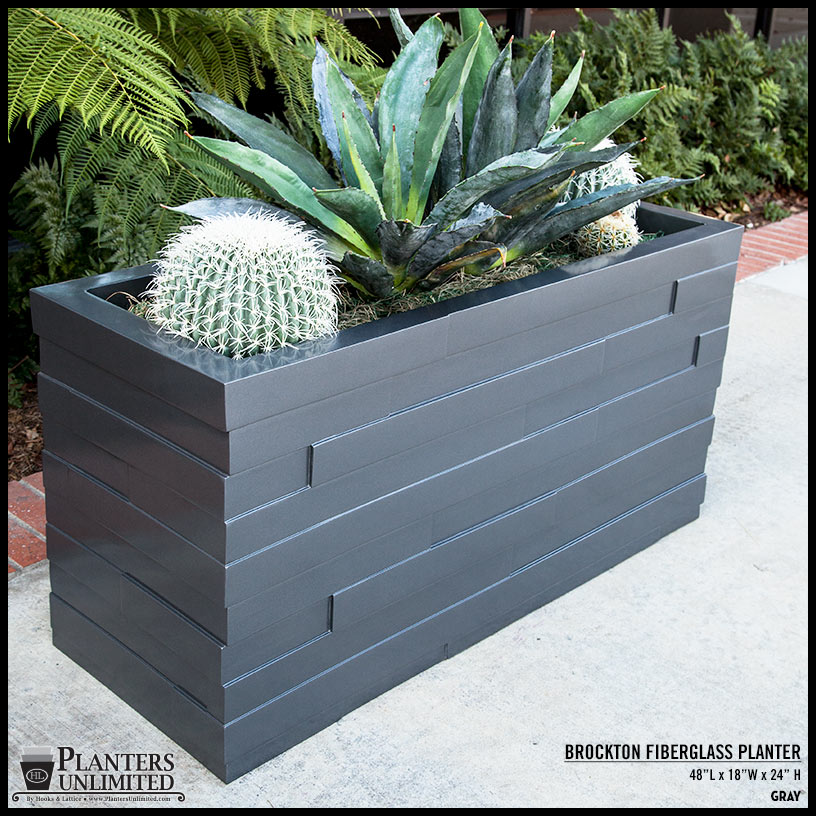 Outdoor Modern Fiberglass Planter Boxes Rot Free Planters Unlimited