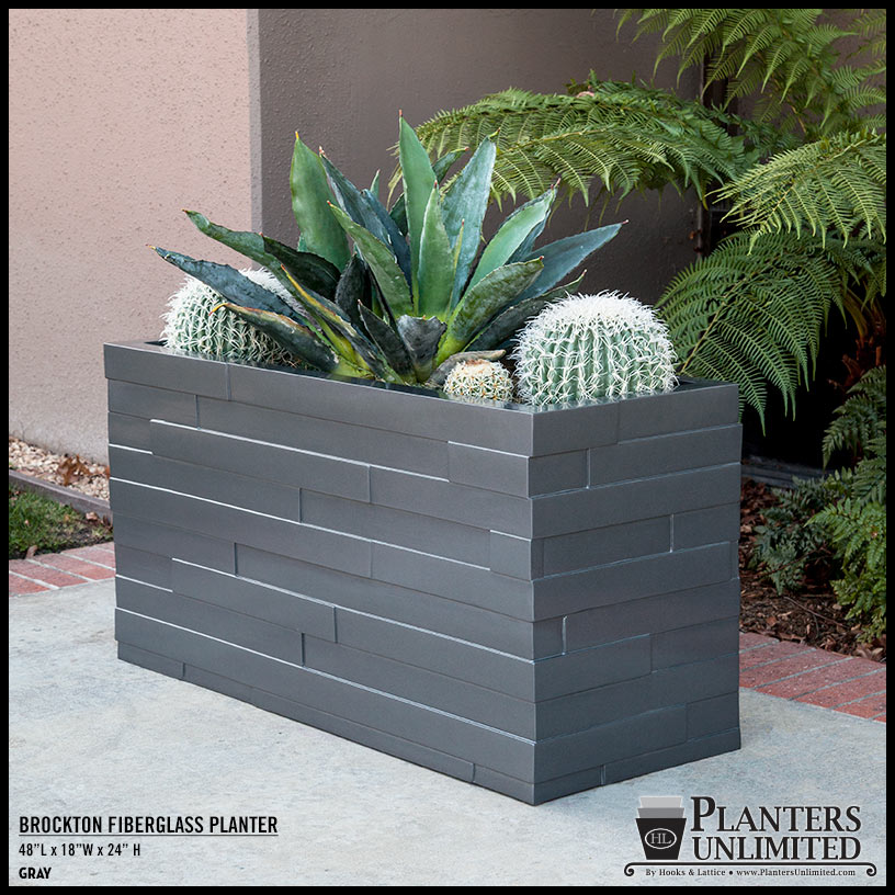 Outdoor planter boxes modern fiberglass planters planters unlimited brockton rectangular fiberglass planter click to enlarge workwithnaturefo