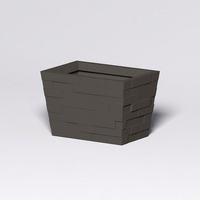 Brockton Tapered Rectangle Planter 36in.L x 24in.W x 24in.H