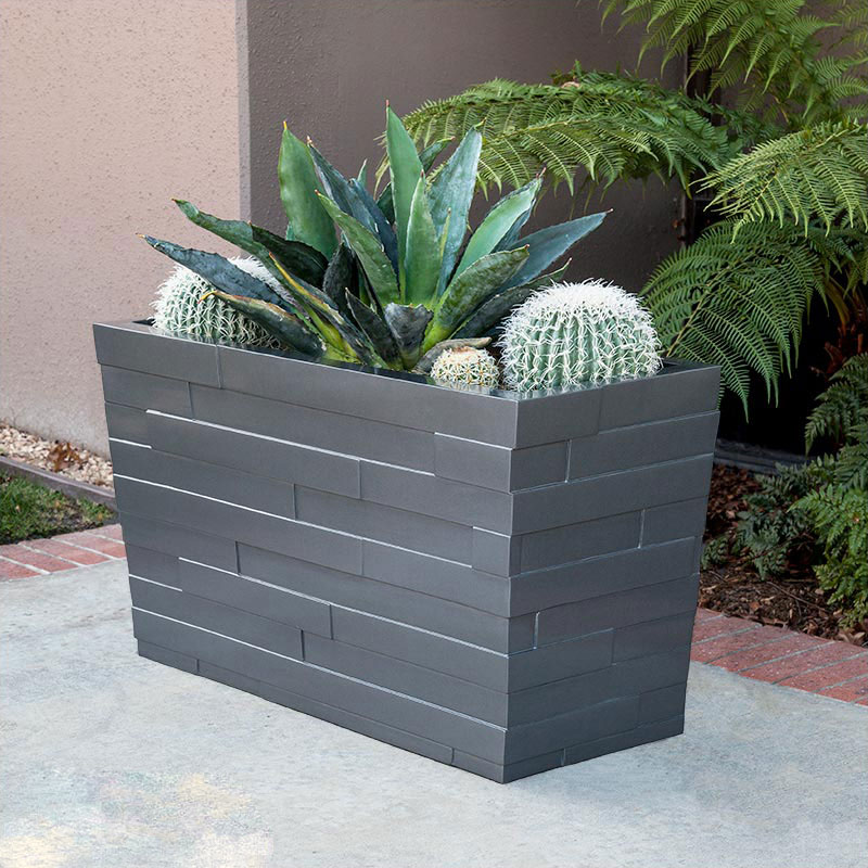 Modern rectangular planter boxes indoor outdoor planters unlimited brockton tapered rectangular planter click to enlarge workwithnaturefo