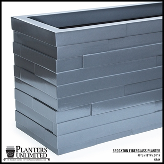 Brockton Tapered Rectangle Planter 48in.L x 18in.W x 24in.H