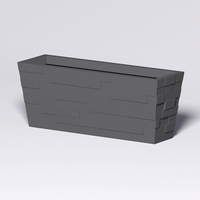 Brockton Tapered Rectangle Planter 60in.L x 18in.W x 24in.H