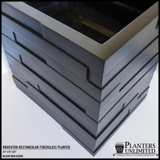 Brockton Tapered Rectangle Planter 72in.L x 18in.W x 24in.H