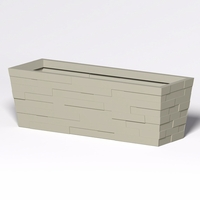 Brockton Tapered Rectangle Planter 72in.L x 24in.W x 24in.H
