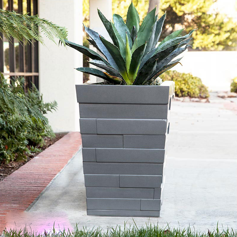 Brockton Tapered Square Planter Click To Enlarge