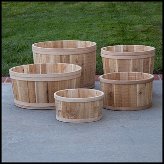 The Buckland Cedar Tub Planter - 21in. Dia.